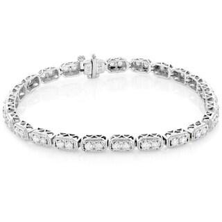 Luxurman 14k Gold 2 1/6ct TDW Round Diamond Tennis Bracelet (H-I, SI1-SI2)