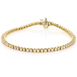 Luxurman 14k Gold 2 1/5ct TDW Diamond Tennis Bracelet (G-H, SI1-SI2)