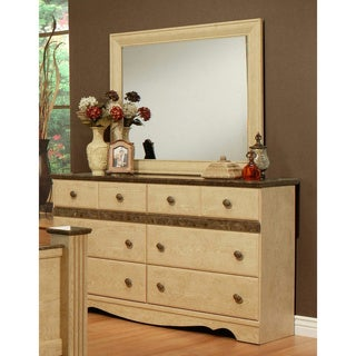 Sandberg Furniture Casa Blanca 6-drawer Dresser and Mirror