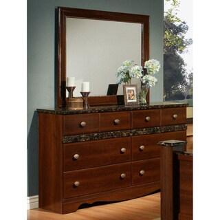 Sandberg Furniture Camden 6-drawer Dresser and Mirror