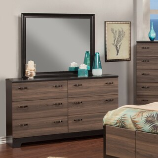 Sandberg Furniture Nova 6-drawer Dresser and Mirror