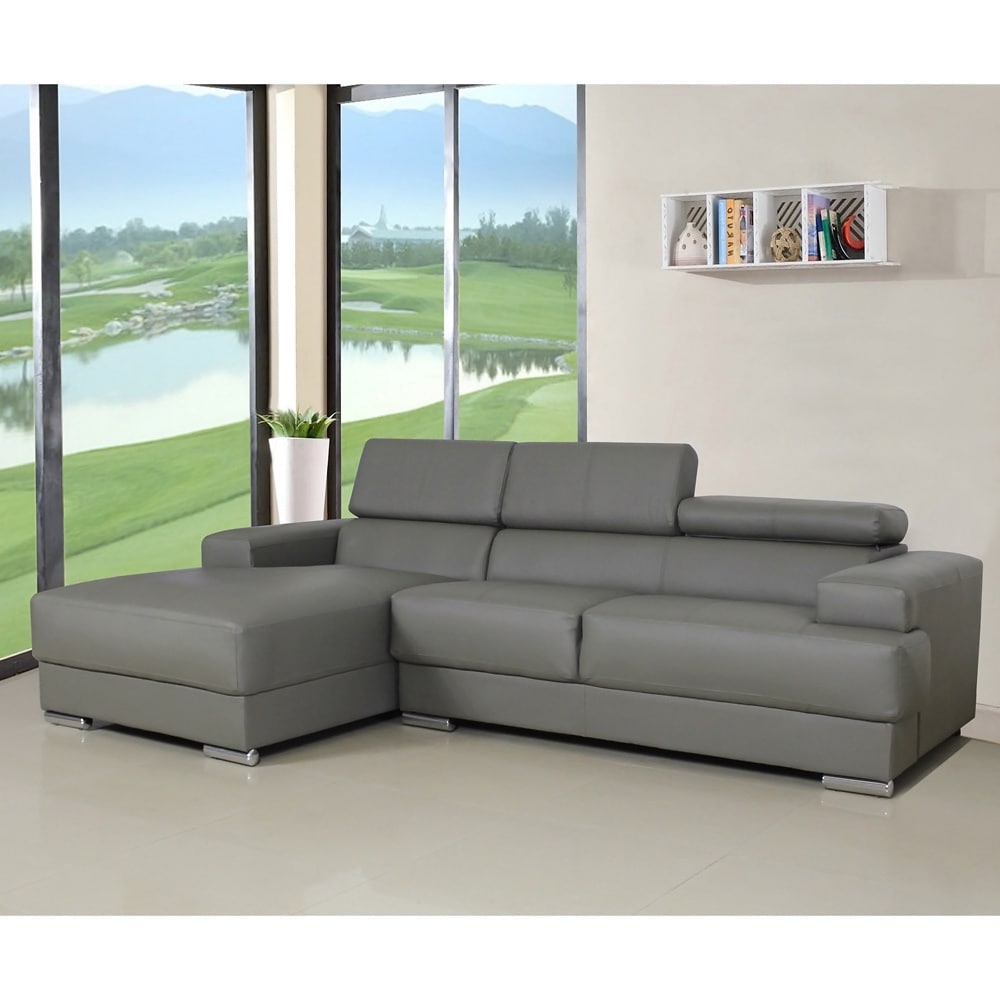 US Pride Furniture Gabriel Leather Contemporary Sectional...