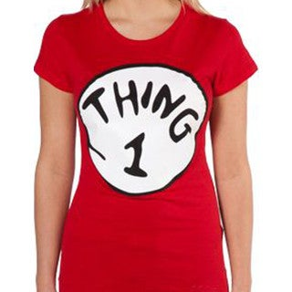 Women's Red 'Thing 1' T-shirt