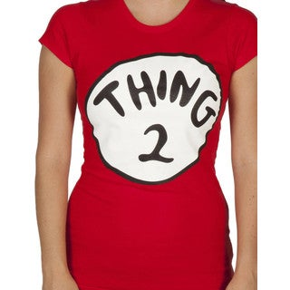 Women's Dr. Seuss Cat In The Hat Thing 2 Red Cotton T-shirt