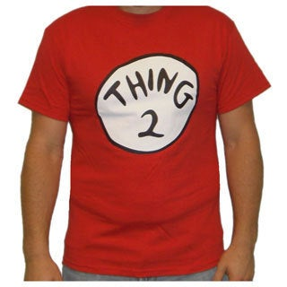 Dr. Seuss Cat In The Hat Thing 2 Red Cotton T-shirt