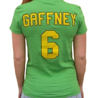 "Julie ""The Cat"" Gaffney #6 Goalie Ducks Movie Jersey T-shirt Costume"