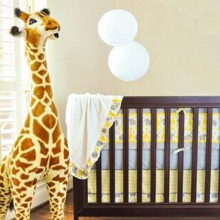 Pam Grace Creations Safari Yellow Zig-zag 10-piece Crib Bedding Set