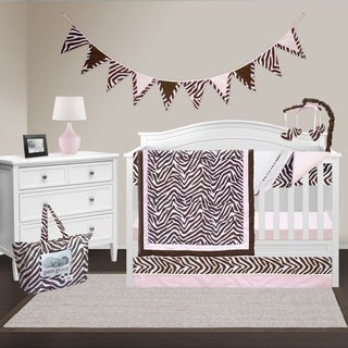 Pam Grace Creations Zara Zebra 10-piece Bedding Set