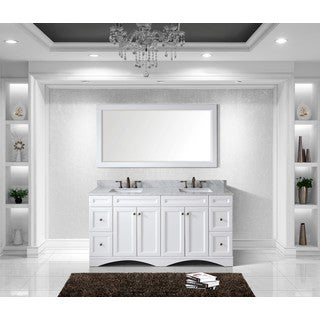 Virtu USA Talisa 72-inch Double Sink White Carrara Marble Countertop Vanity