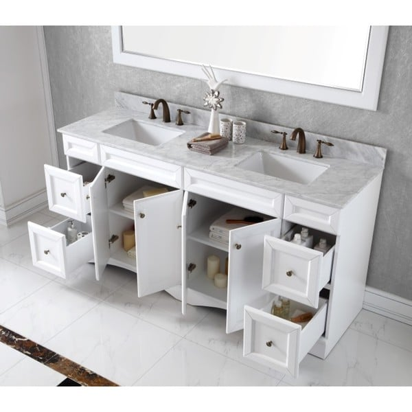 virtu usa talisa 72inch double sink white carrara marble countertop vanity free shipping today