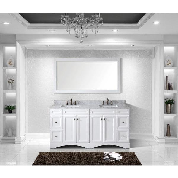 afd3fd1bcaa Virtu USA Talisa 72-inch Double Sink White Carrara Marble Countertop Vanity