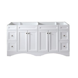 Virtu USA Talisa 72-inch Double Sink White Vanity Cabinet Only