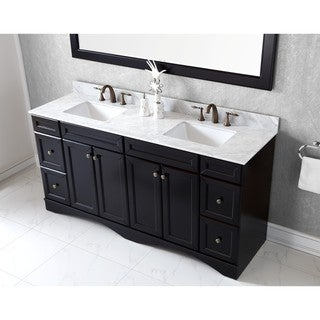 Virtu USA Talisa 72-inch Carrara White Marble Double Sink Vanity