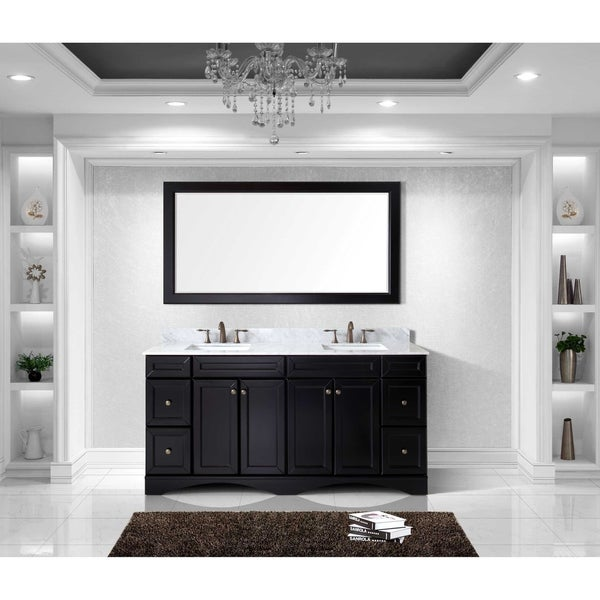 72 inch double sink vanity. virtu usa talisa 72-inch carrara white marble double sink vanity 72 inch u