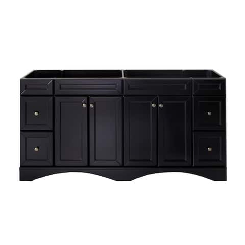 Virtu USA Talisa 72-inch Double Sink Espresso Vanity Cabinet Only