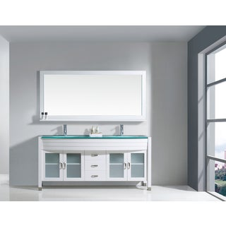 Virtu USA Ava 71-inch Double Bathroom Vanity Cabinet Set with Faucet and Top Options