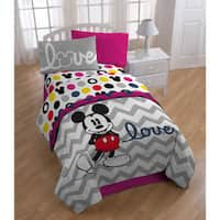 Mickey Chevron Bed in a Bag with Pillow Buddy