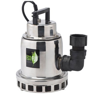 ECO-FLO SEP33M 1/3 HP Stainless Steel Fountain Utility Pump with Manual On/Off