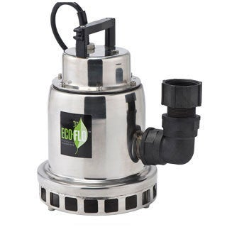ECO-FLO SEP50M 1/2 HP Stainless Steel Fountain Utility Pump with Manual On/Off