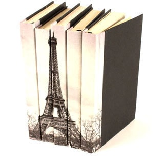 Image Collection Eiffel Tower Decorative Books (Set of 5)