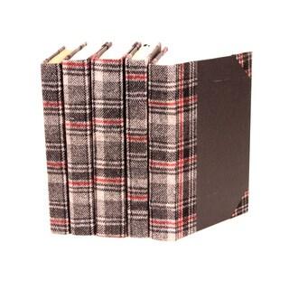 Bespoke Glen Plaid Decorative Books (Set of 5)