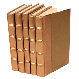Metallic Document Collection Gold Decorative Books
