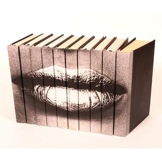 Lips Silver Decorative Books (Set of 10)