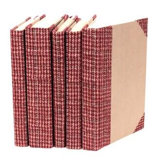 Bespoke Red Tartan Decorative Books (Set of 5)