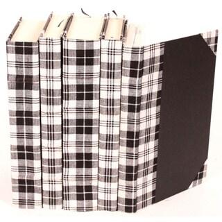 Bespoke Black Plaid Decorative Books (Set of 5)