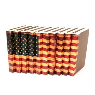 USA Flag Decorative Books (Set of 10)