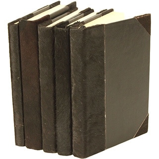 Italian Woven Collection Black Decorative Books (Set of 5)