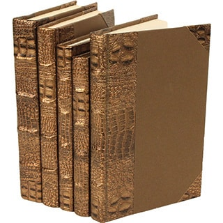 Exotic Croc Collection I Brown Decorative Books