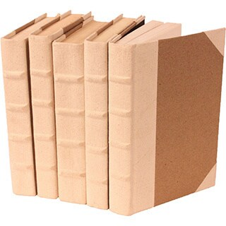 Canvas Collection Natural Decorative Books (Set of 5)