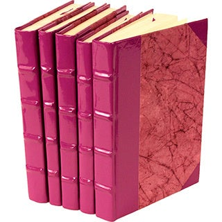 Patent Leather Purple Decorative Books (Set of 5)