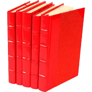 Patent Leather Red Decorative Books (Set of 5)
