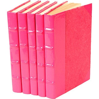 Patent Leather Pink Decorative Books (Set of 5)
