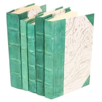 Parchment Collection Teal Decorative Books (Set of 5)