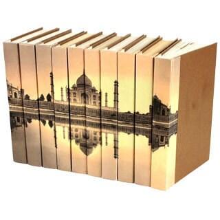 Image Collection Taj Mahal Decorative Books (Set of 10)