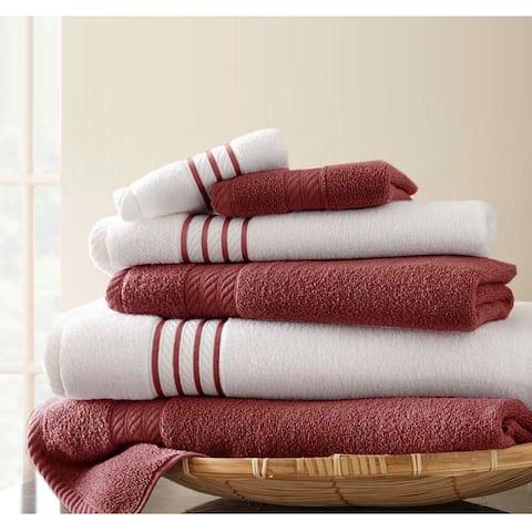 Modern Threads Quick Dry Stripe 6-piece Towel Set