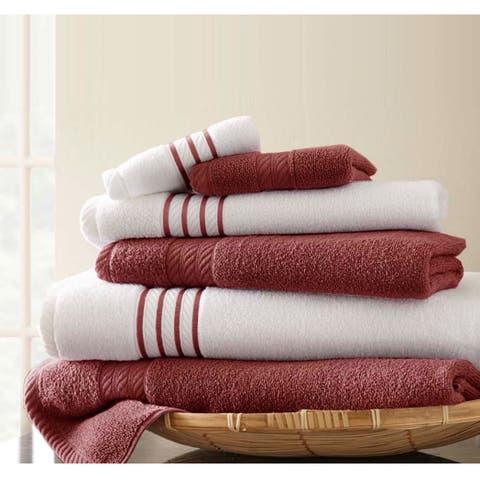 Amrapur Overseas 6-Piece Quick Dry Stripe Towel Set