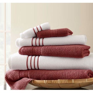 Amrapur Overseas 6-Piece Quick Dry Stripe Towel Set