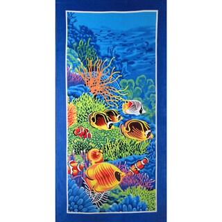 Baltic Linen Coral Reef 100-Percent Cotton Beach Towel