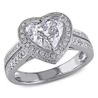 Miadora Signature Collection 14k White Gold 2ct TDW Diamond Heart Ring|https://ak1.ostkcdn.com/images/products/9779877/P16949706.jpg?impolicy=medium