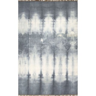 Flat Weave Oriental Pattern Grey/ Black Wool Area Rug (2' x 3')