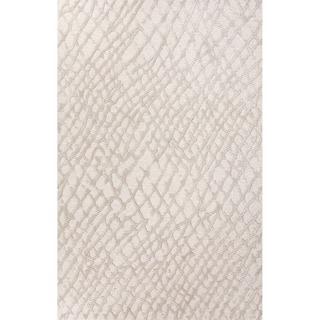 Hand Tufted Oriental Pattern Grey/ White Wool/Art Silk Rug (5' x 8')