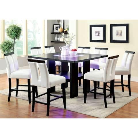 Strick & Bolton Lange 9-piece Light Up Counter Height Dining Set