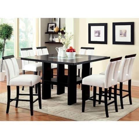 Furniture of America Lumina 7-piece Light Up Counter Height Dining Set