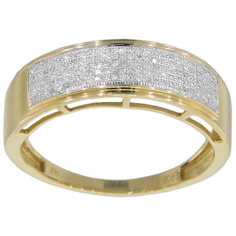 10k White Gold 1/3ct TDW Men's Diamond Ring