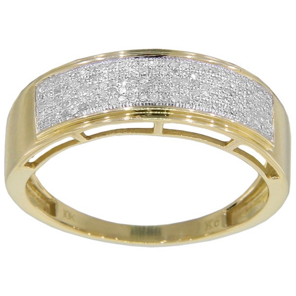 10k White Gold 1/3ct TDW Men's Diamond Ring