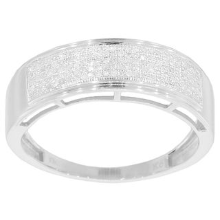 10k White Gold 1/3ct TDW Men's Diamond Ring (More options available)
